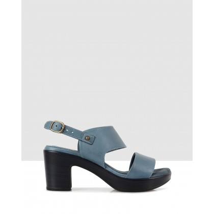 Greta Block Sandals Blue 8401/blue 8401 by S By Sempre Di