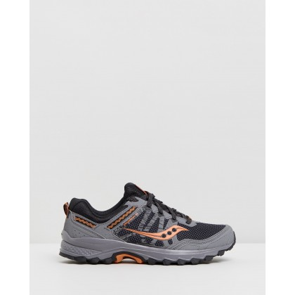 Grid Excursion TR12 Wide Sneakers - Men's Grey & Orange by Saucony