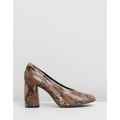 Gwenda Soft Round Toe Heels Multi by Topshop