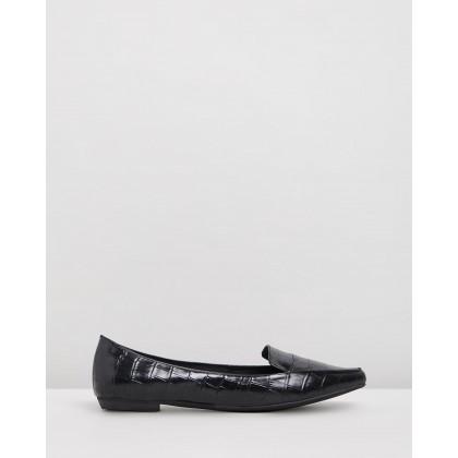 Gyro Black Croc Leather by Mollini