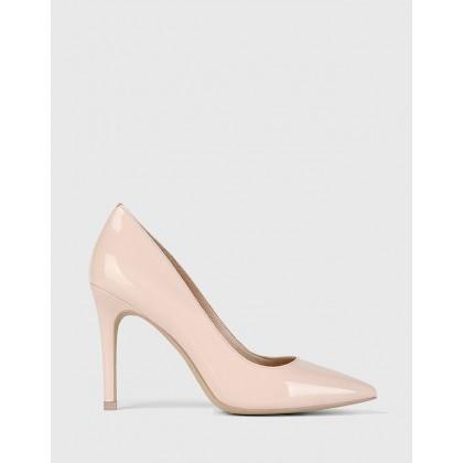 Hadalie Pointed Toe Stiletto Heel Pumps Pink by Wittner