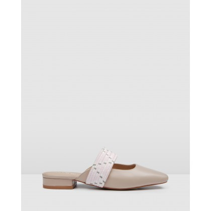 Hail Dress Flats Beige Leather by Jo Mercer