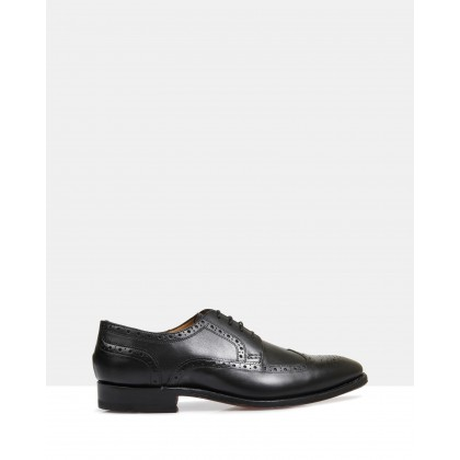 Halifax Good Year Welted Brogues Black by Brando