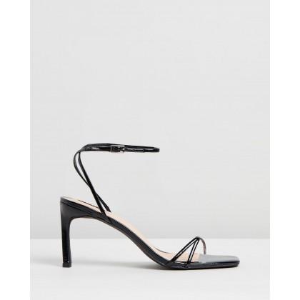 Halina Heels Black Patent by Dazie