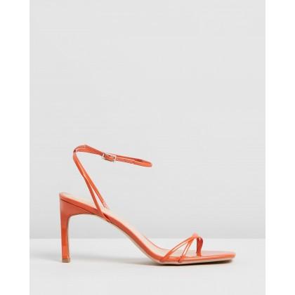 Halina Heels Terracotta Patent by Dazie