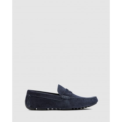 Hamish Driving Shoes Navy by Aq By Aquila