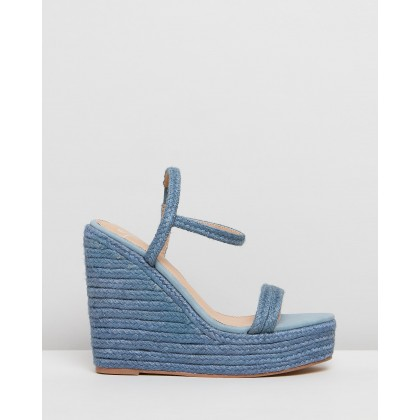 Hannah Wedges Blue Jute by Spurr