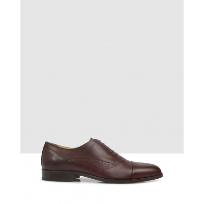 Hansfield Lace Up Anticato Mogano by Brando