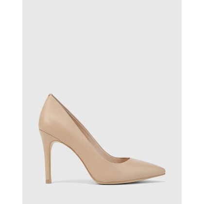 Harman Pointed Toe Stiletto Heels Nude by Wittner