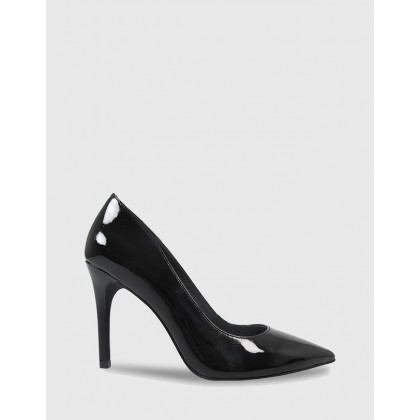 Harman Pointed Toe Stiletto Heels Black by Wittner