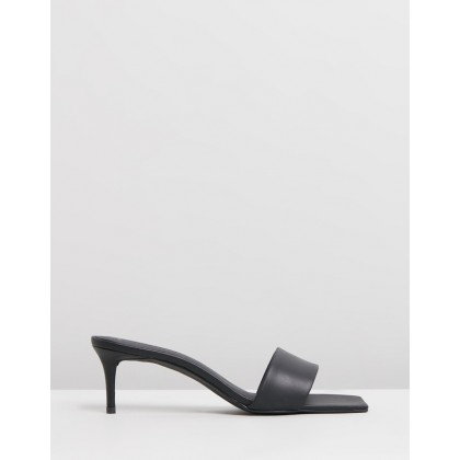 Harper Leather Heels Black Leather by Atmos&Here