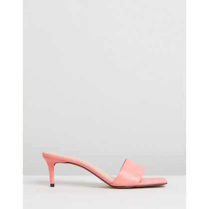 Harper Leather Heels Pink Leather by Atmos&Here