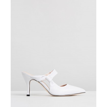 Harri Leather Heels White Leather by Atmos&Here