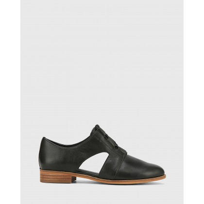 Harrie Leather Cut Out Brogues Black by Wittner