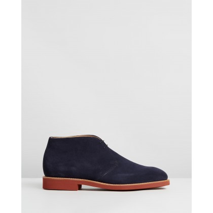 Harry Chukka Boots Navy Suede by Sanders
