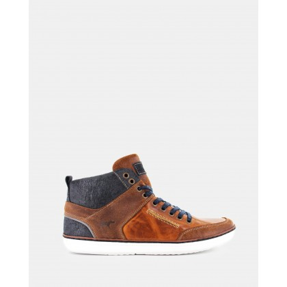 Hartwood Hi- Top Shoes Tan by Wild Rhino