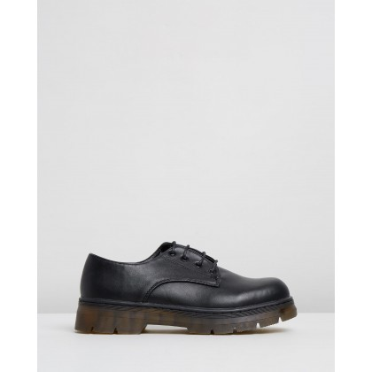 Harver Flats Black Smooth by Dazie
