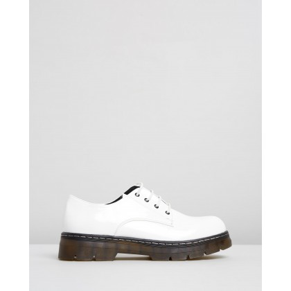 Harver Flats White Patent by Dazie