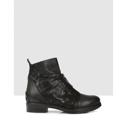 Hatia Ankle Boots 09 Black by S By Sempre Di