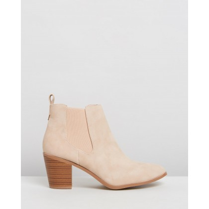 Hayden Ankle Boots Beige Nubuck by Spurr