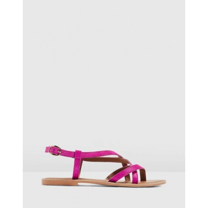 Hazy Flat Sandals Pink by Topshop