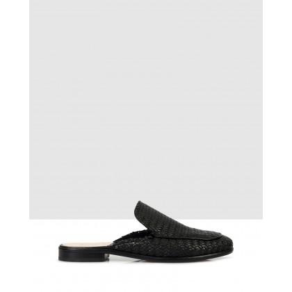 Helen Flat Sandals Nero by Sempre Di