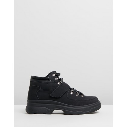 Helena Hiking Hi-Top Sneakers Black Micro by Rubi