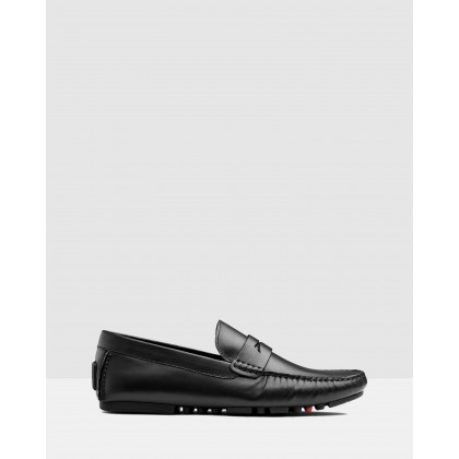 Henmore Driving Shoes Black by Aq By Aquila