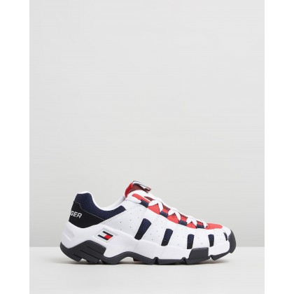 Heritage Chunky Sneakers Red, White & Blue by Tommy Jeans