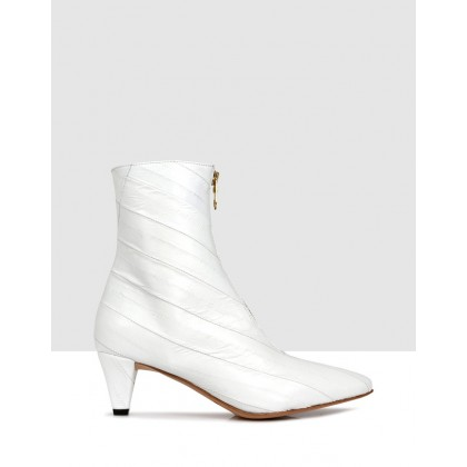 Hermione Ankle Boots Bianco by Beau Coops