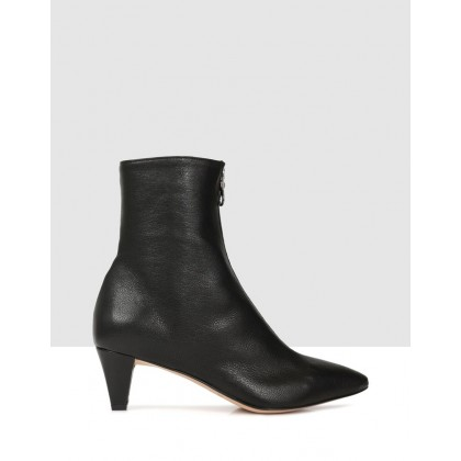 Hermione Ankle Boots Nero by Beau Coops