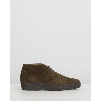 Hi-Top Chukka Boots Snuff Suede by Sanders