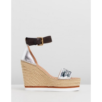 High Espadrilles Silver by See By Chlo??