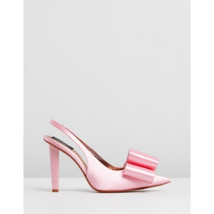 High Slingback Pumps With Bow Pink by Marc Jacobs