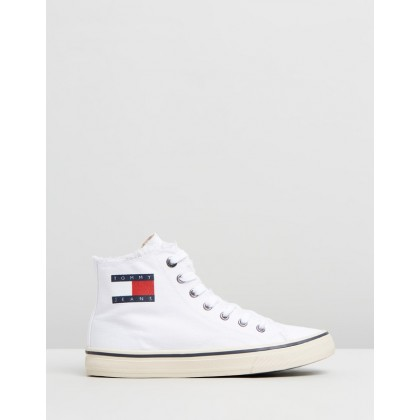 High-Top Tommy Jeans Sneakers - Women's White by Tommy Hilfiger