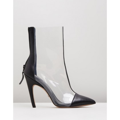 Hockey Perspex Boots Black by Topshop