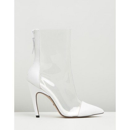 Hockey Perspex Boots White by Topshop