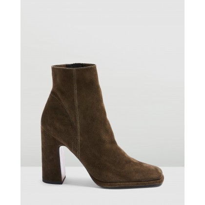 Holden Platform Boots Khaki by Topshop