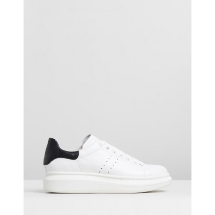 Howell White & Black Leather by Mollini