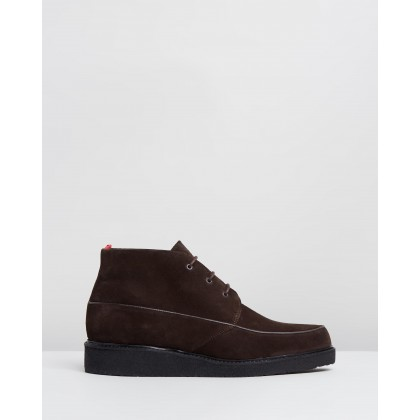 Hoxton Boots Chocolate Suede by Oliver Spencer