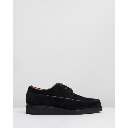 Hoxton Shoes Black Suede by Oliver Spencer