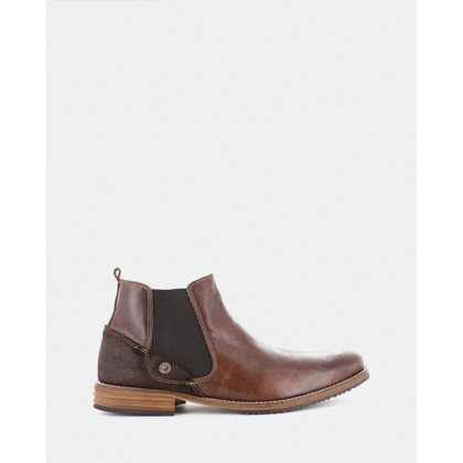 Hugh Chelsea Boots Dark Brown by Wild Rhino