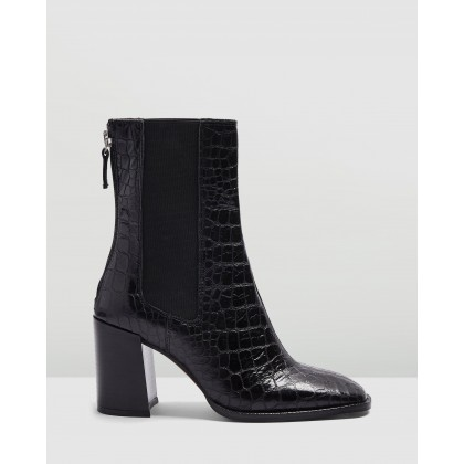 Huntington Boots Black by Topshop