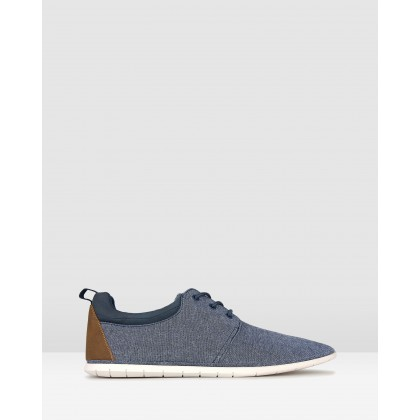 Hurry Lace Up Lifestyle Shoes Navy by Zu