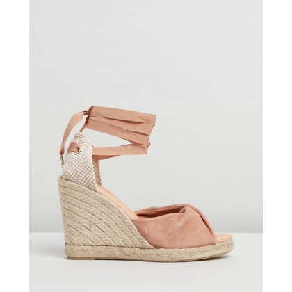 Hvar Espadrille Wedges Nude Suede by Office