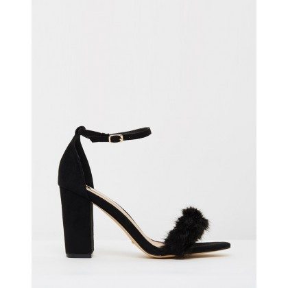 ICONIC EXCLUSIVE - Marilyn Black Suede & Faux Fur by Billini