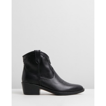 Indi Black Leather by Roc Boots Australia