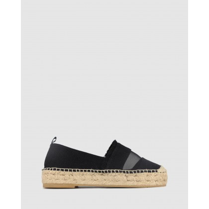 Indi Canvas Espadrilles Black by Betts
