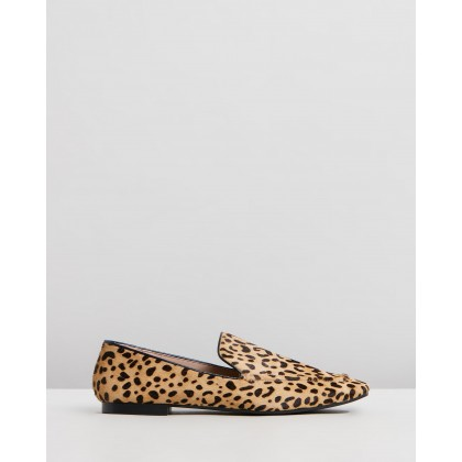 Ingrid Leather Loafers Leopard Ponyhair by Atmos&Here