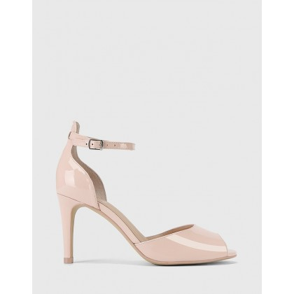 Inka Patent Leather Stiletto Sandals Pink by Wittner